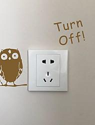 AYA DIY Wall Stickers Wall Decals Cartoon Owl Type PVC Switch Panel Stickers 10*15cm