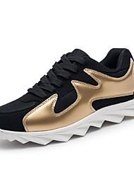 Femme-Extérieure Décontracté-Noir et Or Noir rouge Noir blanc-Talon Plat-Confort-Chaussures d'Athlétisme-Polyuréthane