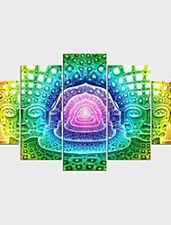 economico -Stampe a tela Paesaggi Fantasia Modern,Cinque Pannelli Tela Qualsiasi forma Stampa artistica Decorazioni da parete For Decorazioni per la