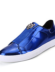 Men's Athletic Shoes Fall Winter Comfort PU Casual Flat Heel Lace-up Black/Gold/Sliver/Blue
