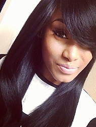 High Quality Silk Straight Glueless Virgin Human Hair Glueless Full Lace Wig With Baby Hair For Black Woman Hot Sale