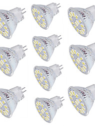 cheap -10pcs 4W 350 lm GU4(MR11) LED Spotlight 15 leds SMD 5733 Decorative Warm White Cold White 3000/6000K DC 30V