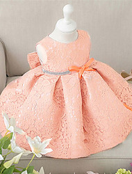 cheap -2pcs Baby Girl's White/Pink Dress, Bow Polyester All Seasons