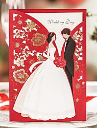 cheap -Wrap & Pocket Wedding Invitations 20 Printing Card Paper Pattern / Print