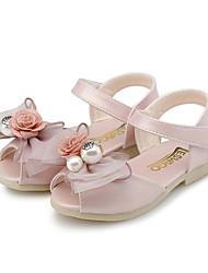 Fille-Mariage Extérieure Habillé Décontracté Soirée & Evénement-Rose Vert clair Violet Clair-Talon Plat-Confort Flower Girl Chaussures-