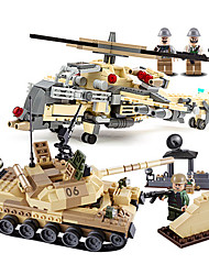 cheap -Building Blocks Toys Tank Plane / Aircraft Fighter Professional Level ABS Boys' 1051 Pieces