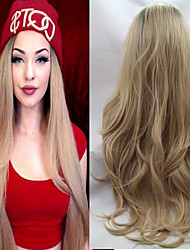 Lace Synthetic Hair Wig/Ombre Lace Front Wig Body Wave Two Tone #1b/27 Blonde Synthetic Lace Wig