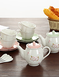 cheap -A Set Of Slap-Up Atmospheric Family Entertainment Ceramics Tea set SEVEN-PIECE Cup Teapot