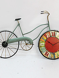 cheap -E-HOME® Color Wheel Bicycle Metal Wall Clock One Pcs