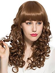 Ženy Zlatohnědá Přírodní vlny S ofinou Umělé vlasy Bez krytky Přírodní paruka paruky