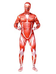 cheap -Super Heroes Soldier / Warrior Cosplay Costume Movie Cosplay Leotard / Onesie Catsuit Zentai Halloween Carnival New Year Spandex Spandex