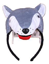 Недорогие -CHENTAO Головной убор Резинка для волос Голова волка Плюш Детские Универсальные Игрушки Подарок 1 pcs