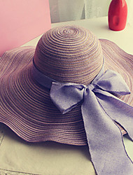 cheap -Women's Holiday Outdoor Straw Hat Sun Hat - Solid Colored Bow