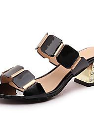 abordables -Mujer Zapatos Sintético Primavera / Verano / Otoño Gladiador Sandalias Tacón Cuadrado Punta abierta Blanco / Negro / Fiesta y Noche