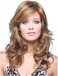 New Arrivals Long wavy Brown mix Blonde Perfect European Synthetic Hair Wig