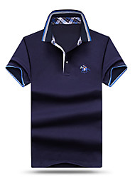 cheap -Men's Active Cotton / Modal Polo - Solid Colored Shirt Collar / Short Sleeve / Beach