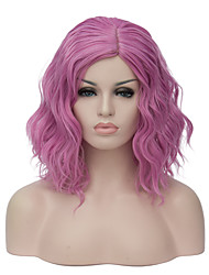 cheap -European and American fashion small and pure and fresh powder purple noodles roll party cos wig