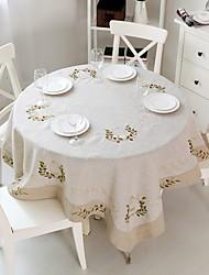 Tonda Quadrato Cucito Tovaglie , Lino MaterialeHotel Dining Table Wedding Party Decoration Cena banchetto di nozze Decor Natale Favor