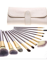 cheap -12pcs Contour Brush Makeup Brush Set Blush Brush Eyeshadow Brush Lip Brush Eyeliner Brush Eyelash Brush Concealer Brush Fan Brush Powder