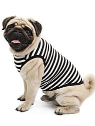 preiswerte -Katze Hund T-shirt Pullover Hundekleidung Klassisch Niedlich Urlaub Lässig/Alltäglich Modisch Sport Streifen Orange Grau Gelb Blau Rosa