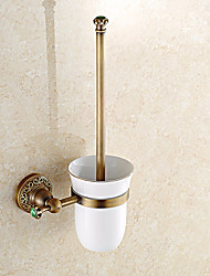 cheap -Toilet Brush Holder Bathroom Gadget Antique Brass Wall Mounted