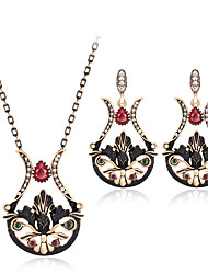 cheap -Jewelry Set Luxury Vintage Bohemian Party Special Occasion Synthetic Gemstones Resin Rhinestone Gold Plated Imitation Diamond Alloy Others