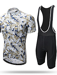 cheap -XINTOWN Cycling Jersey with Bib Shorts Men's Short Sleeves Bike Bib Tights Jersey Clothing Suits Quick Dry Front Zipper Breathable Soft
