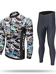 preiswerte -XINTOWN Fahrradtrikots mit Fahrradhosen Herrn Langarm Fahhrad Hosen/Regenhose Trainingsanzug Reißverschluss - Top Trikot/Radtrikot