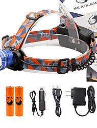 U'King Headlamps Headlight 2000 lm 3 Mode Cree XM-L T6 with Batteries and Chargers Zoomable Adjustable Focus Easy Carrying High Power