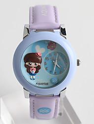 cheap -Women's Fashion Watch Quartz / Silicone Band Cartoon Casual White Blue Green Purple Brand