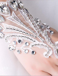 Wrist Length Fingerless Glove Lace Bridal Gloves Party/ Evening Gloves Spring Summer Fall Rhinestone