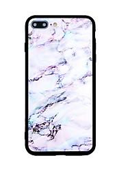 Недорогие -Назначение iPhone X iPhone 8 Чехлы панели С узором Задняя крышка Кейс для Мрамор Твердый Акриловое волокно для Apple iPhone X iPhone 8
