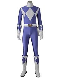 Costumi da supereroi Cosplay Costumi Cosplay Vestito da Serata Elegante Cosplay da film Blu Calzamaglia/Pigiama intero Guanti Cintura A