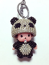 cheap -Dolls Key Chain Toys Duck Bear Toys Panda Crystal Cartoon Lovely 1 Pieces Boys' Girls' New Year Christmas Carnival Gift