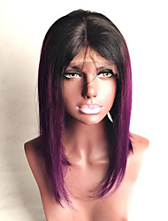 Top Grade Brazilian Virgin Hair Full Lace Bob Wigs Straight Hair Ombre T1B/Purple Color Human Hair Lace Wigs With Baby Hair