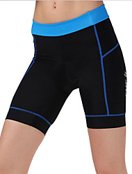 cheap -cheji® Women's Cycling Padded Shorts Bike Padded Shorts / Chamois / Bottoms Quick Dry, Breathable Classic Polyester Blue / Pink / Light Blue Bike Wear / Stretchy