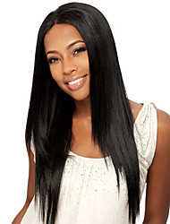 cheap -Synthetic Hair Wigs Straight Middle Part Natural Wigs Long Natural Black