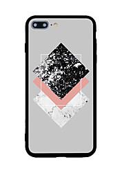 Недорогие -Назначение iPhone X iPhone 8 Чехлы панели С узором Задняя крышка Кейс для Геометрический рисунок Твердый Акриловое волокно для Apple