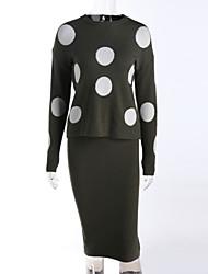 billige -Dame Kineseri Pullover Trykt mønster