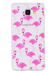 For Samsung Galaxy A3 (2017) A5 (2017) Case Cover Flamingo Pattern Painted High Penetration TPU Material Phone Case