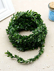 295 Inch Artificial Leaf Fake Vine Simulation Flower Foliage Green Leaves Rattan Wreath Decorative Home Wall Garden Party Decor