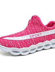 economico -Sneakers Comoda Suole leggere Scarpe luminose Tulle Primavera Estate Autunno Casual Footing Cerniera Piatto Nero Verde militare Rosa