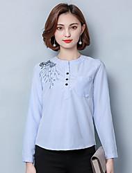 unterzeichnen bestickt gestreiften Hemd 2017 Frühjahr neue koreanische Version der großen Frauen Mode wilden Hemd grundiert