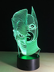 cheap -Led Night Lights 3D Two-Face Acrylic Discoloration Colorful Atmosphere Lamp Novelty Lighting Creative 3D Illusion Lamp