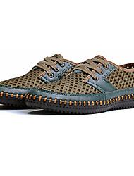 Men's Sneakers Comfort Synthetic Summer Casual Lace-up Flat Heel Orange Gray Light Brown Dark Green 2in-2 3/4in