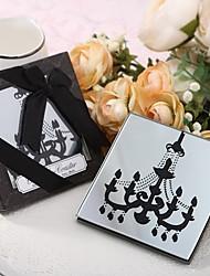 Chandelier Design Glass Coaster Favour 2pcs/box Beter Gifts® Debutante Ball Party Souvenirs