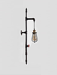 1 Heads Retro Industrial Pipe Wall Lights Simple Loft Black Birdcage Metal Living Room Dining Room Kitchen Bar Cafe Decoration lighting