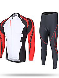 XINTOWN Cycling Jersey with Tights Men's Long Sleeves Bike Zip Top Jersey Pants/Trousers/Overtrousers Tracksuit Tops Bottoms Quick Dry