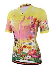 Недорогие -Miloto С короткими рукавами Велокофты Велоспорт Джерси, Впитывает пот и влагу Кулмакс®