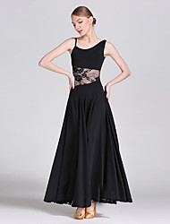 cheap -Ballroom Dance Dresses Women's Performance Lace Ice Silk Lace Sleeveless Natural Dress
